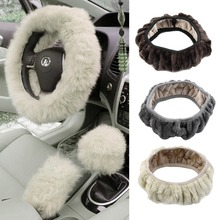 teering Wheel Cover Winter Plush Steering Wheel Cover   Winter Steering Wheel Cover Artificial Wool Heated S
