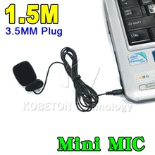 1.5M 3.5mm Hands Free Clip On Mini Mic Microphone Studio Speech Lecture Microphone Computer PC Notebook Laptop for MSN Skype etc