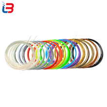 20colors/lot 10m/color 1.75mm diameter PLA filament for 3D printer material 3d pen test sample plastic filaments free shipping