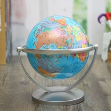 Modern English Geography World Globe Rotating World Map Ornaments for Home Office Decor Craft Gift for Friend 18cm(China)