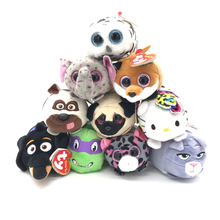Limit Sale 1pcs Ty Beanie Boos Original Big Eyes 8cm TSUM TSUM Pugs Dog Cats Pets Plush Stuffed Animal Toys