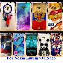 Panda Tiger Cat Painted Phone Cases Covers For Microsoft Nokia Lumia 535 N535 Shell Hood For Lumia 535 N535 Housing Hard Plastic