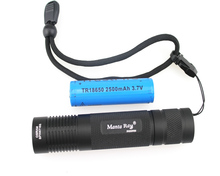 VUAN Manta Ray 850nm Infrared Flashlight Small Straight Tube IR Fill Light Flashlight+1x18650+1xCharger