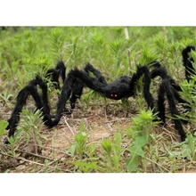 Spider Halloween Decoration Haunted House Indoor Outdoor Black Giant 30cm/75cm HG6064-HG6065