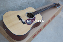 Factory custom 41-inch acoustic folk guitar with rosewood fingerboard,red tortoise shell pickguard,Can be customized