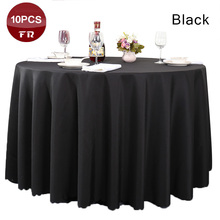 Shipping FREE 10PC/Pack 100% Polyester Tablecloth Table Cover Table Cloth Linen of Wedding Party Restaurant Banquet Hotel Black