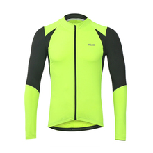 ARSUXEO 2017 New Cycling Jersey Long Sleeve Full zipper Summer Men Sports Outdoor Bicycle Clothing MTB Road Bike Jerseys(China)