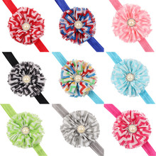 H054 festival headbands hair accessories headband hair band pearl flower newborn headwear girls headbands fascinator
