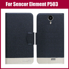 Hot Sale! New Arrival 5 Colors Fashion Flip Ultra-thin Leather Protective Cover For Sencor Element P503 Case