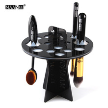 Acrylic 16 Holes Plastic hole Cosmetic Makeup Brushes Round Dryer Holder Stand Pen Storage organizer display showing tower rack