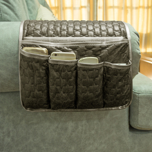 Multi Function Leather Sofa Organizer TV Remote Control hanging Storage Sofa Chair ArmRest Side Bag Organizer(China)