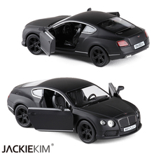 New RMZ city matte black Bentley Continental 1/36 Scale 5 Inch Diecast Vehicles Model Car Toys Best Gift for Kids Free Shipping