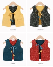 5pcs/lot Fashion Girls Vest 2 Side Wear Baby Autumn Spring Vests