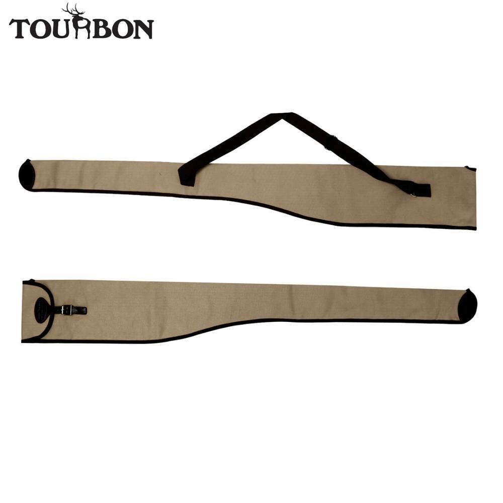 Tourbon Hunting Durable Canvas Gun Case Shotgun Slip Classic Firearm Cover Bag Carrier for Gun Accessories Shooting<br>