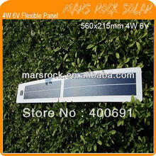 4W 6V 560*215mm Portable Flexible Solar Cell Panel with Good Waterproof, Reliable Parameter, Lightweight, Flexible, Proformance