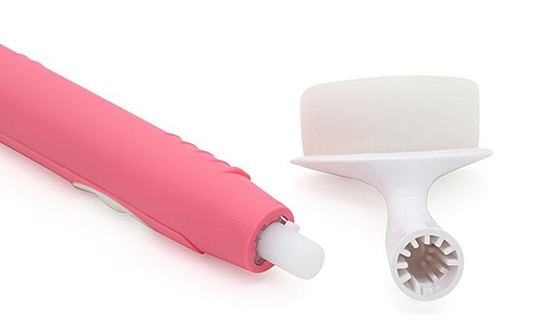 Kemei Original Practical 2 in 1 Ultrasonic Electric Facial Cleaning Brush Teeth Brush Electric Face Portable Washing Beauty Tool 5