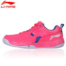 Li-Ning Original Women Badminton Shoes Breathable Wearable Li Ning Sports Shoes Cushion Sneakers AYTM072(China)