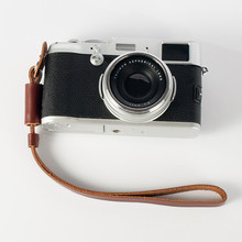 Free shipping New fashion Vintage Genuine real Leather Camera hand strap for DSRL Handmade