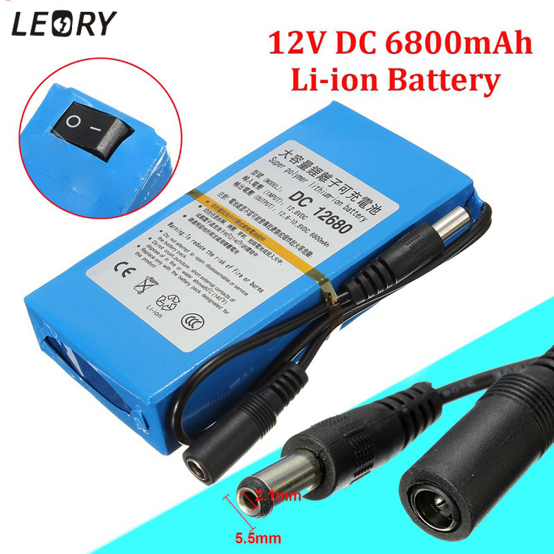 LEORY DC 12V 6800mAh Super Electrical Rechargeable Battery Lithium Li-Ion Batteries Pack For Wireless Transmitter CCTV Camera(China)