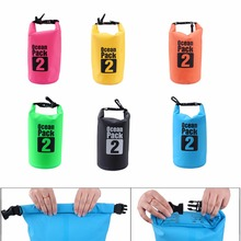 2017 Portable Waterproof Dry Bag Outdoor Sport Swimming Rafting Kayaking Sailing Canoe 2L Storage Dry Bag Travel Kit