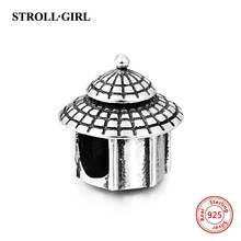 Original 925 Sterling Silver LOVE house charm diy jewelry making Fits for DIY Bracelets free shipping