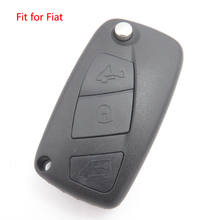 New Flip Remote Key Shell Fob Cover for FIAT 3button Blank Case Replacement Key Housing With LOGO