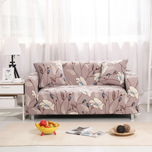 Flower Living Room Sofa Cover Polyester Modern All-inclusive Loveseat Elastic Sofa Cover Banquet/Hotel Couch Cover 1/2/3/4-Seat(China)