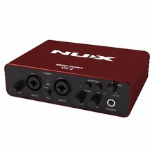 NUX UC-2 Mini Port USB Guitar Audio Interface XLR 6.35mm Audio Interface for Mic MIDI Instrument Recording Playback For Guitar