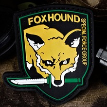 FOXHOUND FOX HOUND Patche SPECIAL FORCE GROUP PVC 3D Rubber Metal Gear Solid Military Pvc Badge Patches