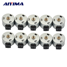 AIYIMA 10pcs Above 24V Magnetic Micro DC Stepper Motor Two Phase Six Wire Motors 18 Degrees Step Angel 25MM For DIY