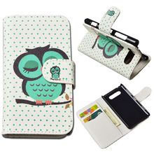 Printing Leather Cover For Nokia Lumia 820 N820 Wallet Case With Stand and Card Holder 15 Colors in Stock