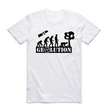 2017 Men Women Print My Live Geocaching Evolution White T Shirt Summer Cool O Neck Short Sleeve Harajuku Swag Funny T-shirt(China)