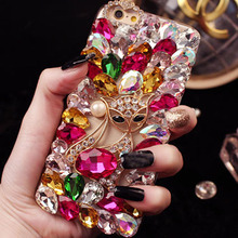 Buy phone Case iPhone X 8 plus 7 plus 7 5 5s se 4 4s 5c 6 6s plus case Bling crystal Diamond fox capa fundas Coque cover Carcasa for $7.99 in AliExpress store
