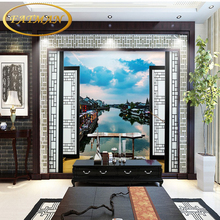Custom photo wallpaper 3D Chinese ancient city background wall living room stereoscopic bedroom wallpaper restaurant mural