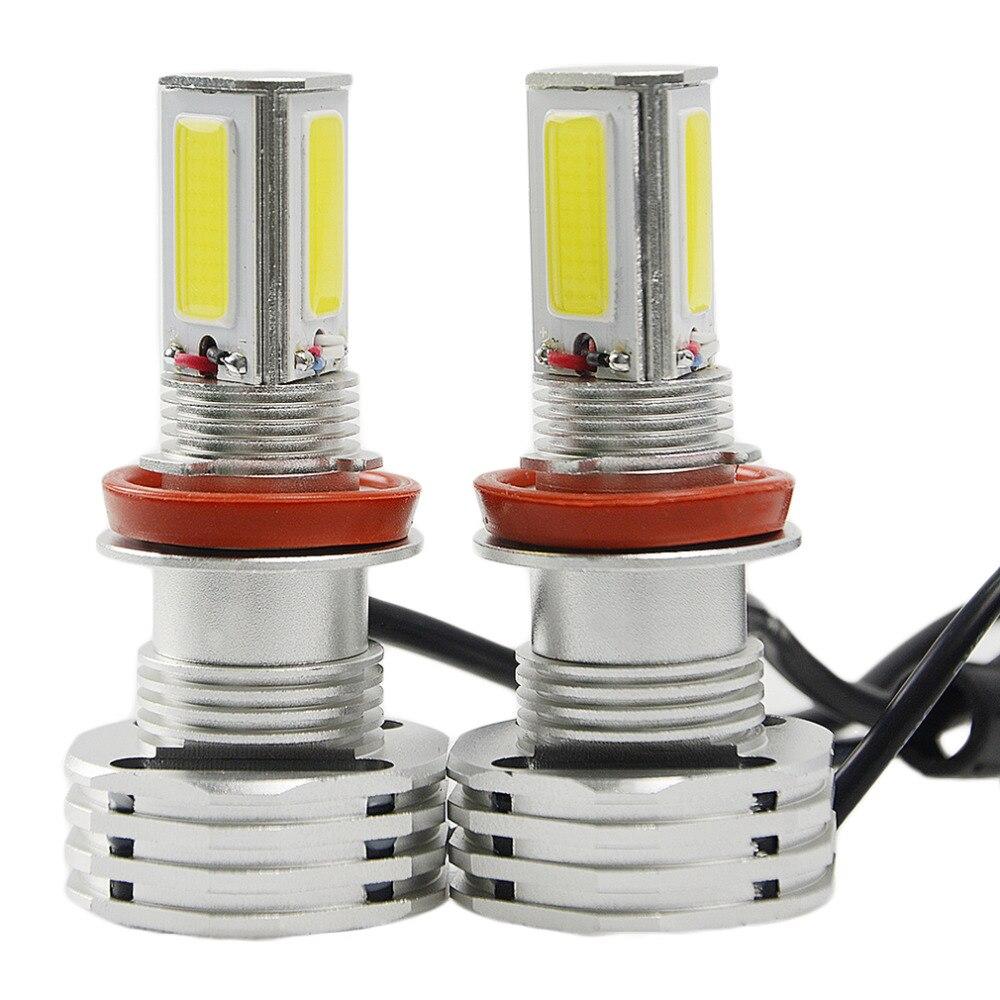 ICOCO White 6500-7000K 90W 9000LM COB Car LED Bulb 9007 Hi/Lo Beam Lamps HeadLight Kit Bulbs Super Bright 1Pair<br>
