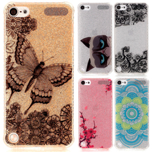 For Coque iPod Touch 5 Case Glitter Bling TPU Shockproof Phone Case iPod Touch 5 Cover Transparent Silicone Fundas For iPod 5