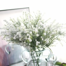 5 Bunch Artificial Gypsophila Baby Breath Fake Silk Babysbreath Flowers Plant Home Wedding Party Decoration Products(China)