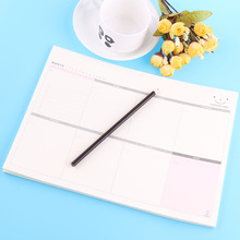 60 Sheets/Set Cute Weekly Paper Monthly Work Planner Book Diary Agenda Kids Note Memo Pads Stickers School Office Supplies