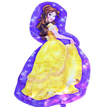 95x55cm mylar party balloons Princess Belle wedding birthday party decoration personalized cartoon character balloons