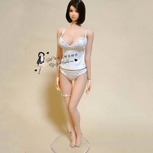 "1/6 Scale Female White Lace Underwear Sets Model Toys Girl Lingerie For 12"" Female Big Bust Action Figure Body(China)"