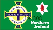 Free Shipping   90*150cm Northern Ireland Football Flag Red Hand Ulster Loyalist Soccer Sports Game For 2016 Euro Cup