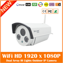 Hd Wifi Ip Camera 2.0mp Wireless Onvif Waterproof Outdoor Home Cmos Cctv Surveillance Motion Detect Webcam Freeshipping Hot
