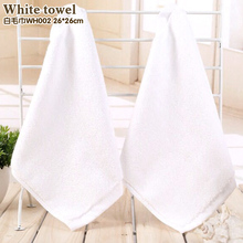 Cheap white napkin Cotton rag White towels Clean cotton towel A thin handkerchief Small handkerchief(China)