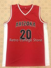 0 Gilbert Arenas 20 Amar'e Stoudemire Arizona Wildcats Red white Basketball Jerseys Embroidery Stitched Personalized Custom any(China)