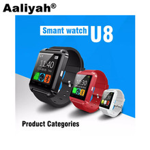 [Aaliyah] U8 Bluetooth Smart Watch For IOS Android Mobile Phone Smartwatch Waterproof pedometer Music Watch(China)