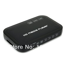 Free Shipping!JEDX Full HD 1080P HDMI HDD Media Player Box VGA/AV  with USB/SD/MMC Card reader MKV H.264 RM WMV,HD AD Player
