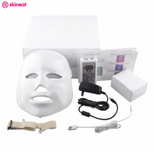 Skineat 7 Color LED Mask Facial Care Anti-Wrinkle Machine Acne Removal Beauty Spa Device Skin Rejuvenation White Face Masker