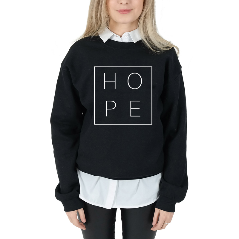 Spring Autumn Long Sleeve Hope Christian Sweatshirt Graphic Religious Fashion Clothing Bible Pullover Hope Faith Jumper Tops 6