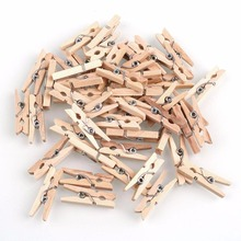 150pcs Mini Natural Wooden Clothes Photo Paper Clothespin Craft Clips 25mm Home Wooden Clothes Spring Clips