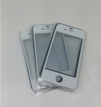 10pcs/lot Hight quality Front Outside glass Panel screen lcd lens repair Replacement For iPhone4 4s(China)